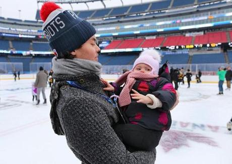 Photos: Gillette Stadium transformed for Winter Classic ...