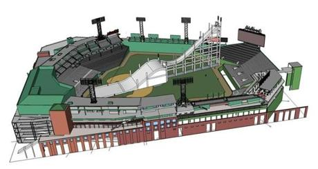 Rendering of the setup of Fenway Park for Big Air.