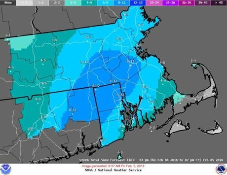 Several inches of snow forecast through Tuesday night