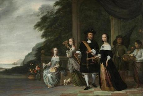 """Pieter Cnoll and Cornelia van Nijenrode with Their Daughters and Malay Slaves"" is at the Peabody Essex Museum."