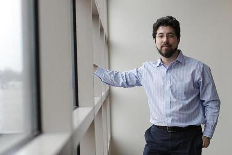 Boston, MA - 2/24/2016 - Ed Boyden of the MIT Media Lab poses for a portrait in Boston, MA, February 24, 2016. (Keith Bedford/Globe Staff)