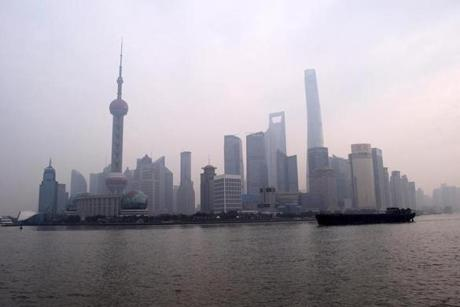 Shanghai's dazzling skyline is sometimes obscured by smog.