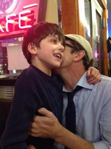 Alysia Abbott's son Finn finds a warm welcome at Deluxe Town Diner in Watertown.