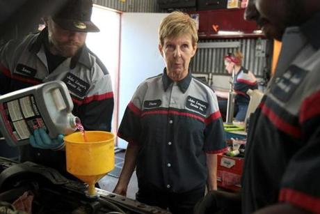 Diane Larson of Larson's Service in Peabody says the business can still be tough for women.