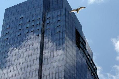 BOSTON, MA - 7/20/2016: A tower of glass....Milllennium Tower Boston, downtown crossing at Summer and Washington streets.... an architecture review (David L Ryan/Globe Staff Photo) SECTION: ARTS TOPIC 17Tower