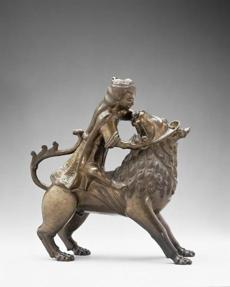 Samson and Lion Aquamanile early 14th century Leaded latten (81.7% copper, 9.9% tin, 7% lead, 1.4% zinc) * Benjamin Shelton Fund * Photograph © Museum of Fine Arts, Boston -- 16directors