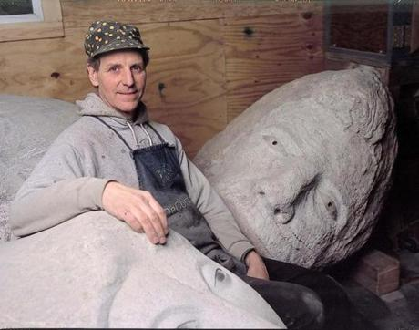 Mr. Wheelwright in his Boston studio in 2003.