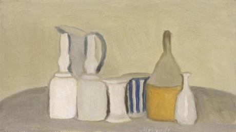 Still Life of Bottles and Pitcher Giorgio Morandi (Italian, 1890Ð1964) 1946 Oil on canvas * Tompkins CollectionÑArthur Gordon Tompkins Fund © 2011 Artists Rights Society (ARS), New York/SIAE, Rome. * Photograph © Museum of Fine Arts, Boston -- 16directors