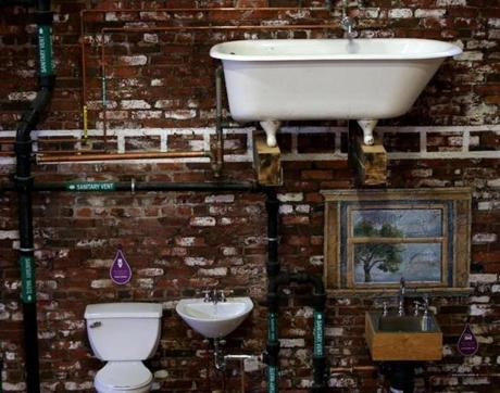 Watertown Ma 10-26-2016 2016 The Plumbing Museum is now housed in an old ice house purchased by the J.C. Cannistraro company. The museum offers a unique look at our America History. Boston Globe Staff/Photographer Jonathan Wiggs
