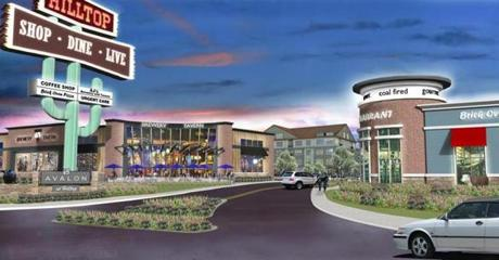 AvalonBay Communities is proposing to keep the giant cactus sign for its new development at the former Hilltop Steak House  in Saugus.