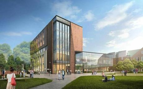 A rendering of the Foisie Innovation Studio on Worcester Polytechnic Institute campus. The building is set to open early Fall 2018.