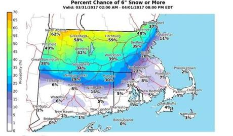 NOAA: Snow event off-Cape, mainly rain here
