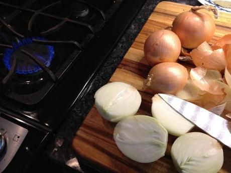 "At ""America's Test Kitchen,"" I tested many ways to avoid the eye irritation caused by chopping onions. Protecting your eyes with contact lenses or ski goggles worked well, but cutting the onions near a flame was a close second. If you have a gas stove, turn on a burner and work near it. If your stove is electric, try a candle or two."