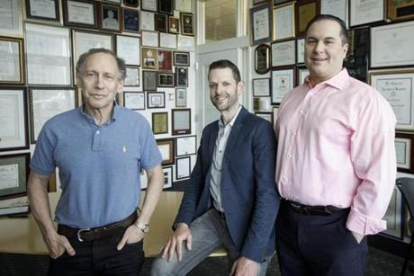 From left: Bob Langer, Jeff Karp, and David Lucchino founded Frequency.