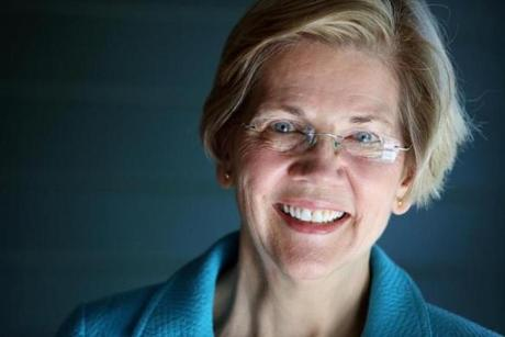 Cambridge, MA- April 14, 2017: United States Senator Elizabeth Warren at her home in Cambridge, MA on April 14, 2017. (Globe staff photo / Craig F. Walker) section: metro reporter