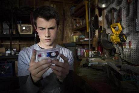 "Dylan Minnette in ""13 Reasons Why."""