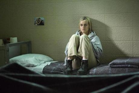 "Taylor Schilling in ""Orange is the New Black"" on Netflix."