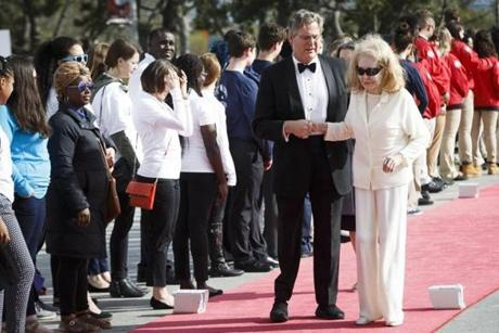 Boston, MA - 5/7/2017 - Connecticut State Senator Teddy Kennedy, Jr. walks the red carpet with his mother Joan as they arrive for the annual John F. Kennedy Profile in Courage Award at the the John F. Kennedy Presidential Library and Museum in Boston, MA, May 7, 2017. Former U.S. President Barack Obama was the recipient of the award. (Keith Bedford/Globe Staff)