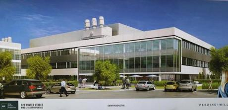 An artist's rendering of the 828 Winter St. building.