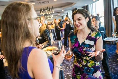 05/24/2017 CAMBRIDGE, MA Hanna Soltys (cq) (left) and Nicole Angeloro (cq) attended 826 BostonÕs annual gala, ÒNight of 1,000 StoriesÓ held at the Royal Sonesta in Cambridge. (Aram Boghosian for The Boston Globe)