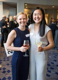 05/24/2017 CAMBRIDGE, MA Katie Braggins (cq) 23 Brookline, (left) and Joanna Kuang (cq) 22 Cambridge, attended 826 BostonÕs annual gala, ÒNight of 1,000 StoriesÓ held at the Royal Sonesta in Cambridge. (Aram Boghosian for The Boston Globe)