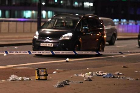Transport police report casualties in London