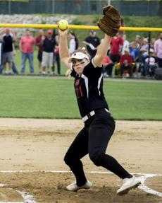 Milford pitcher Ali Atherton retired 16 of the final 19 Wachusetts batters she faced Saturday night.