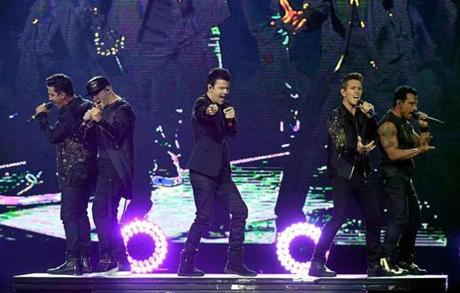 New Kids on the Block play Fenway Park Saturday night.