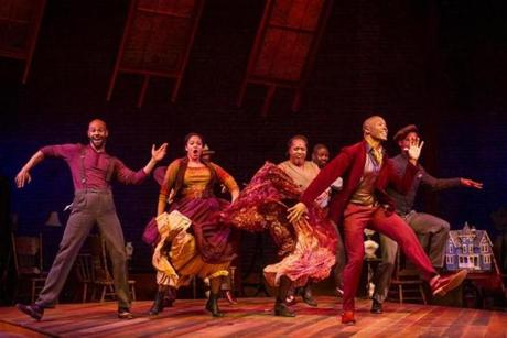 "Darnell Abraham and the ensemble in Barrington Stage Company's production of ""Ragtime."""