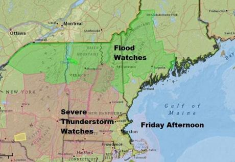 Strong thunderstorms could bring heavy rain, gusty winds to MA  this weekend