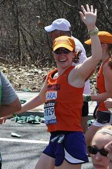 Cara Linehan Buckwell ran the 2011 Boston Marathon to raise money for liver research in honor of her late sister, Laura.