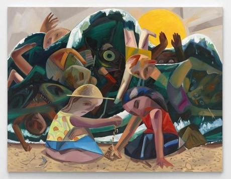 """Big Wave"" is part of the Dana Schutz exhibition at the Institute of Contemporary Art."