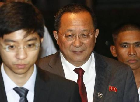 North Korean Foreign Minister Ri Yong-ho gave no ground in his speech.