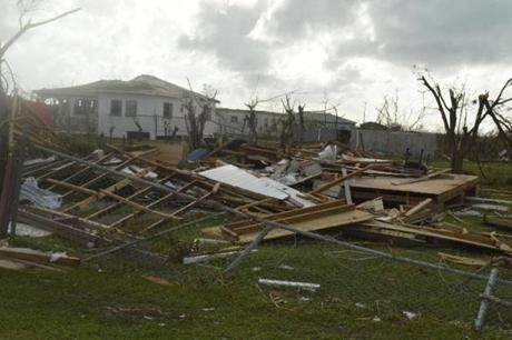 Property damage was significant after Hurricane Irma hit Barbuda.