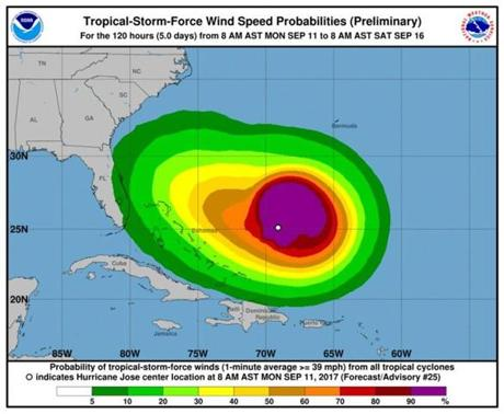 NWS: Low chance Hurricane Jose will bring heavy wind, rain to LI