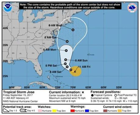 The latest Hurricane Jose outlook is brighter for NC, East Coast