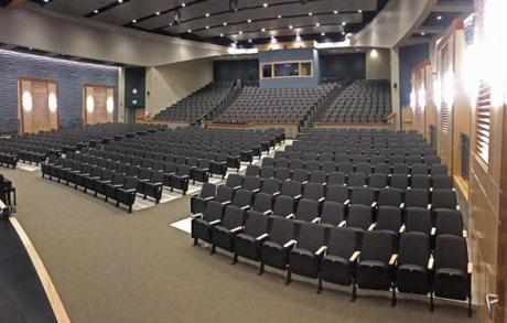 The new Abington Pre-K, Middle and High School has an auditorium with more than 700 seats.