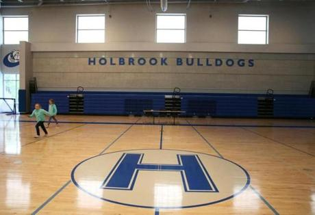 A gymnasium at the Holbrook PreK-12 Complex .