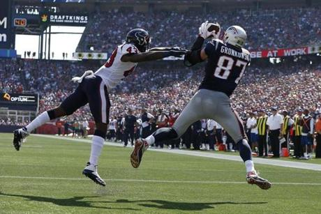 This was Gronkowski's 70th career receiving touchdown.