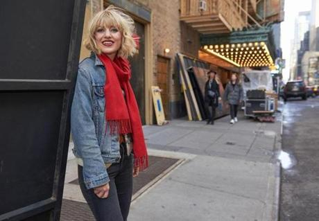 Vermont native Anaïs Mitchell at the Walter Kerr Theatre in New York.