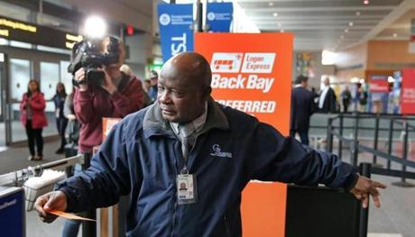 The expedited security check is one of several ways Massport is trying to improve Logan Express service.