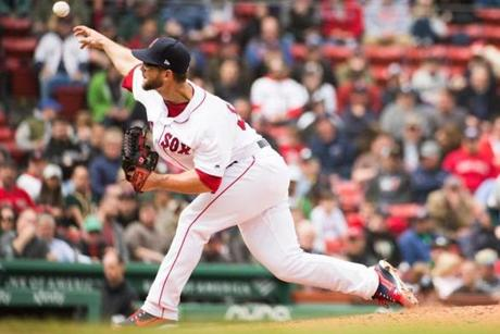 BOSTON, MA - MAY 1: Marcus Walden #64 of the Boston Red Sox pitches in the third inning against the Oakland Athletics at Fenway Park on May 1, 2019 in Boston, Massachusetts. (Photo by Kathryn Riley /Getty Images)