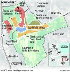 A map of SouthField. Source: www.thevillagecenterplan.com