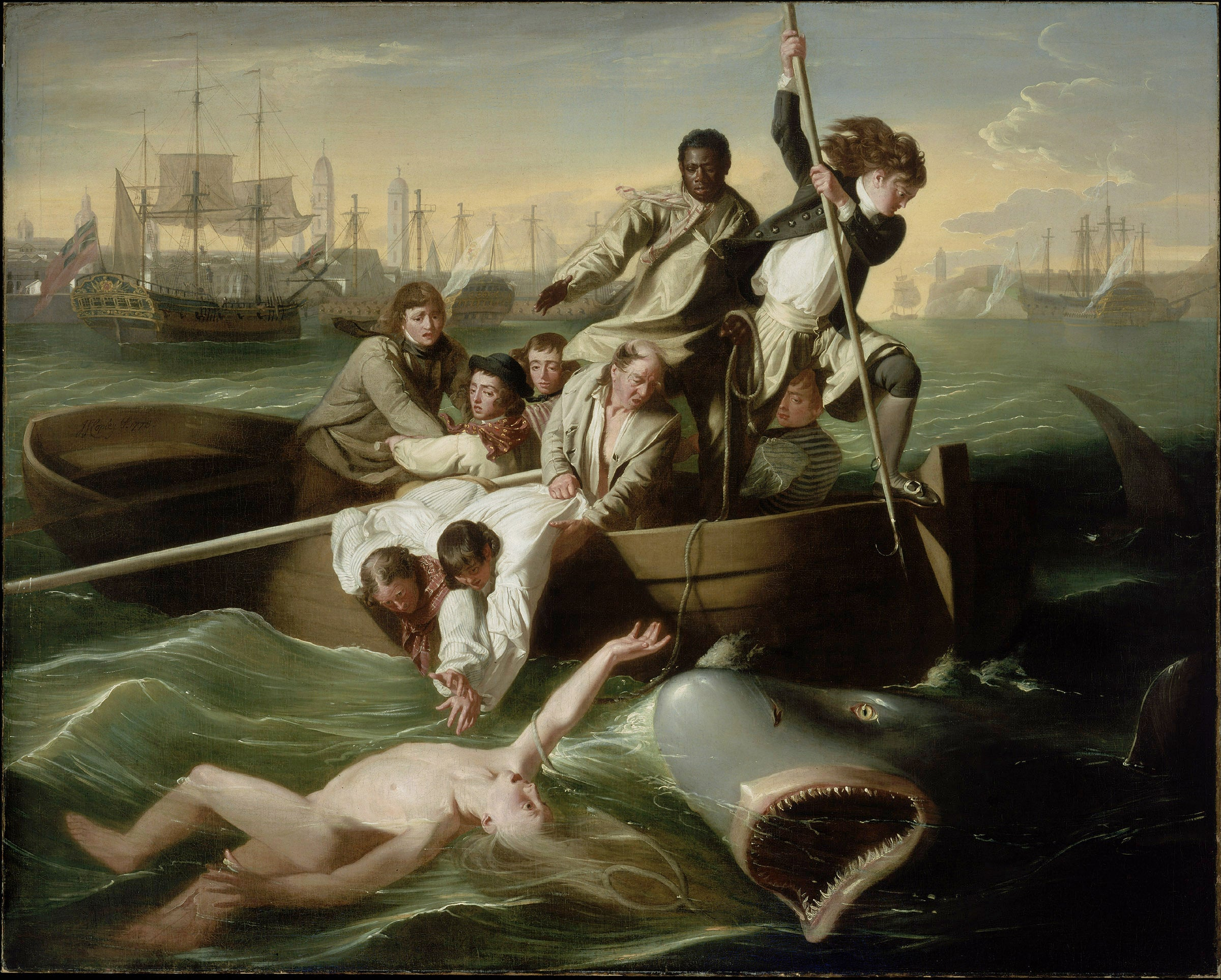 Famous Painting Of Shark Attack