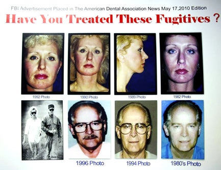 This poster featuring images of Bulger and Greig was used as part of a new campaign specifically targeting Greig in June this year. It was part of the campaign that caught the attention of Anna Bjornsdottir, a former actress and Miss Iceland 1974, who lived in the same Santa Monica neighborhood for months at a time. (AP photo)