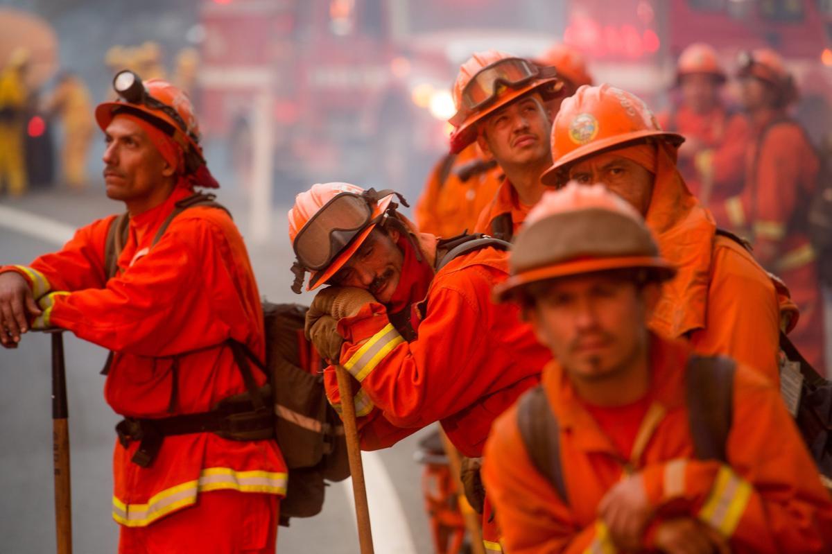 Espectaculares fotos de los incendios de California 04870377