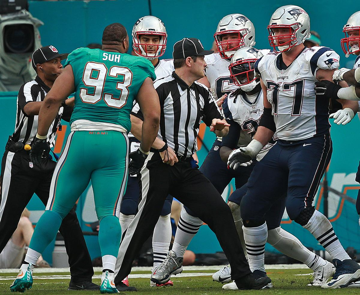 Legarrette blount calls ndamukong suh a dirty player the dolphins ndamukong suh and the patriots legarrette blount exchanged words late in the voltagebd Images
