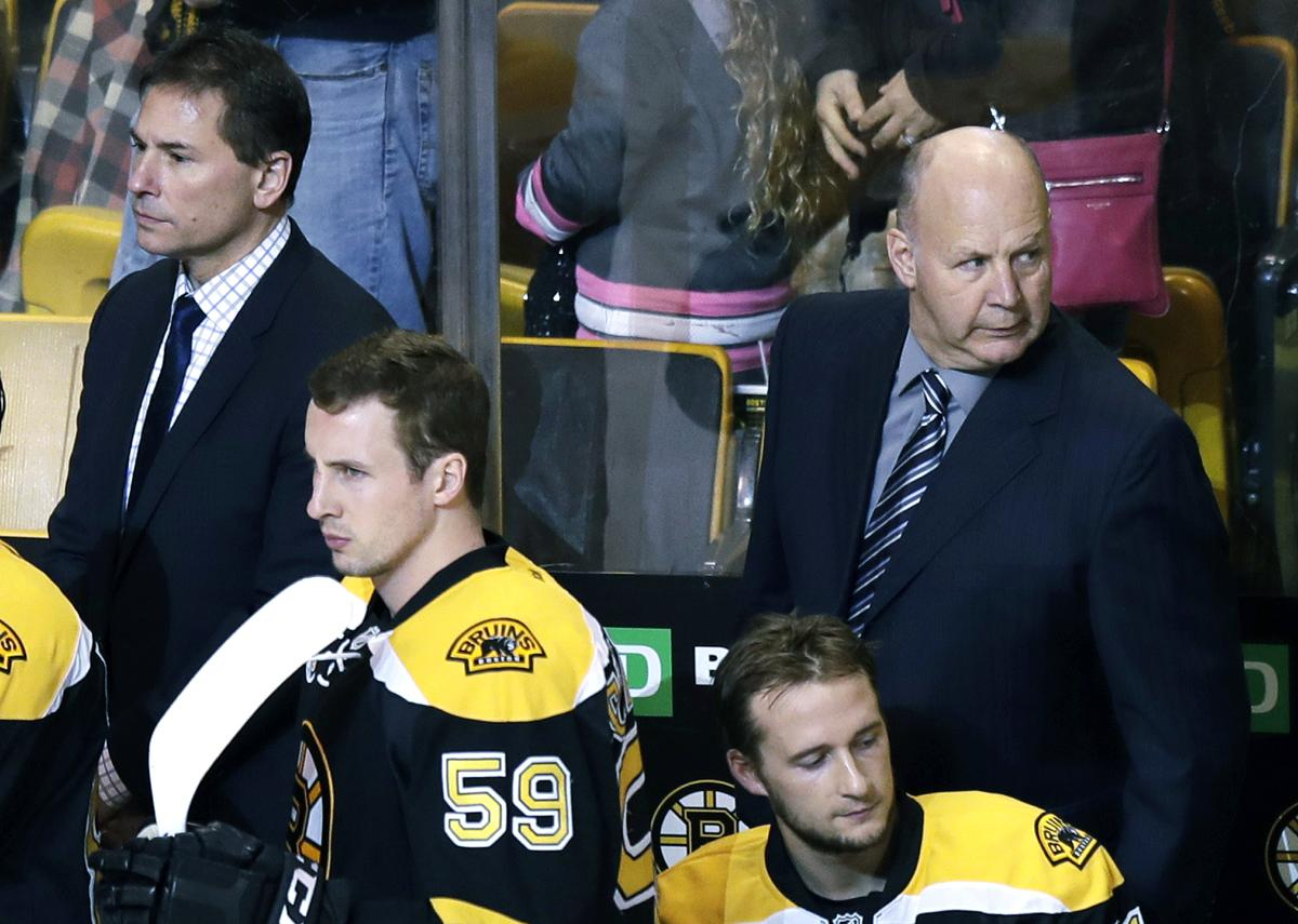 e3d3454e767 Bruce Cassidy conducts first practice as Bruins coach
