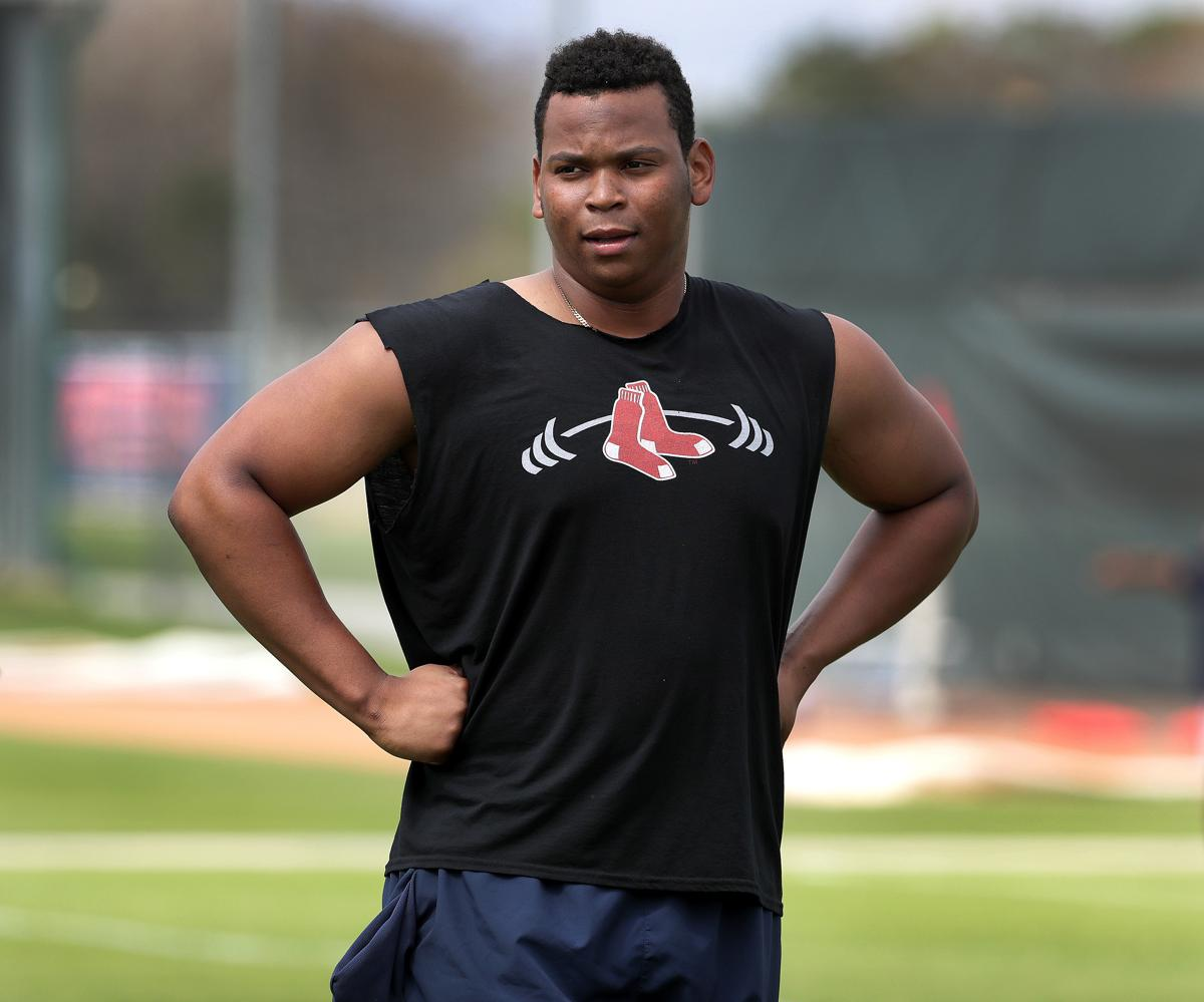 Rafael Devers played last season in the Carolina League. 55a618ceffe