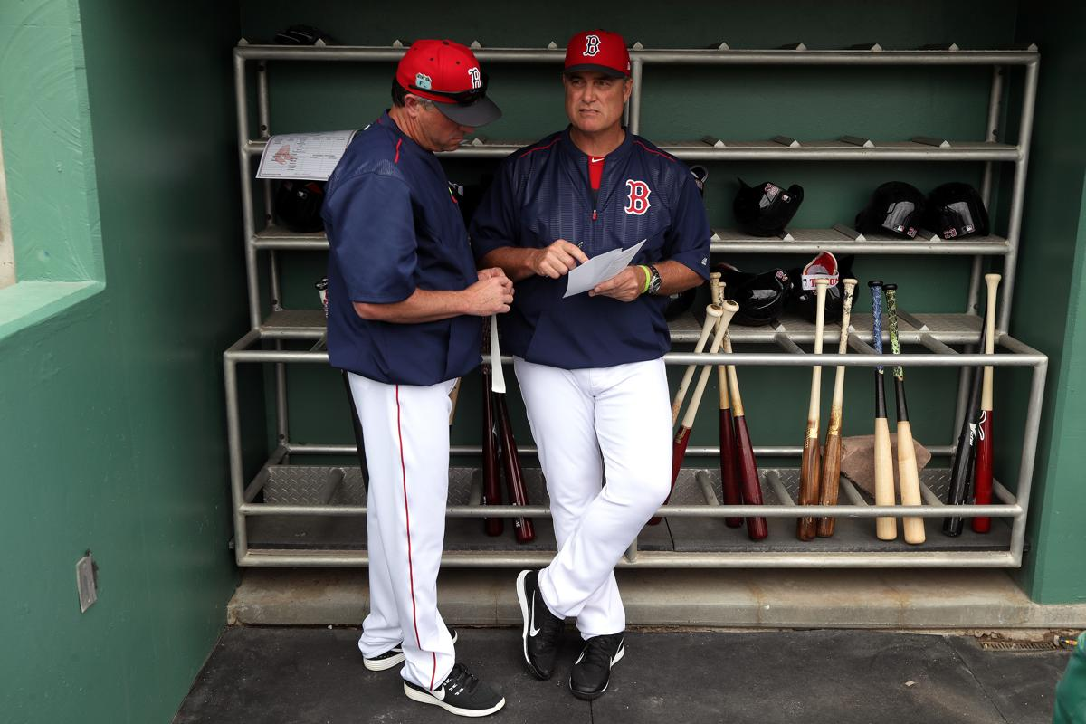 baseball a disarcina story bench as natural sox coach sports red gary redsox